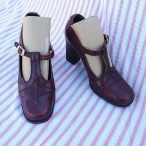 1970s 40s Style Oxblood Mary Jane Shoes US 7B